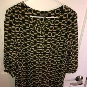 Anthropologie Fei silk tunic top